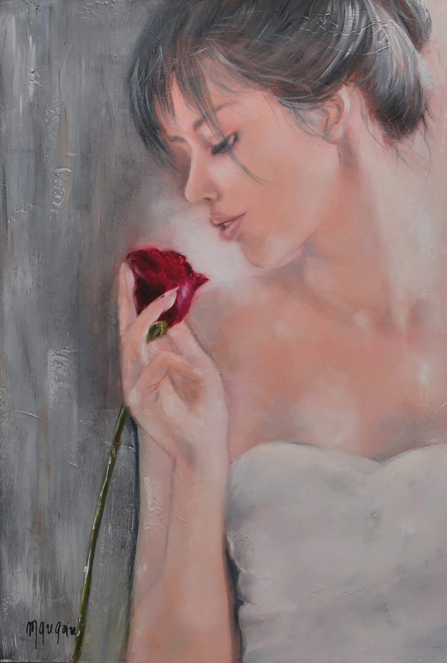 Martine Gregoire - La rose rouge