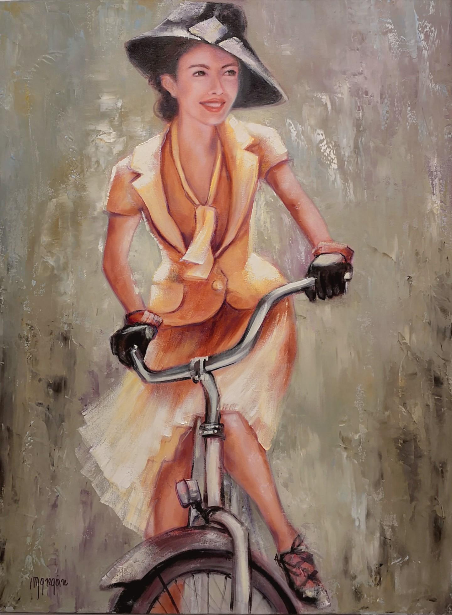 Martine Gregoire - Ambiance Rétro en vélo