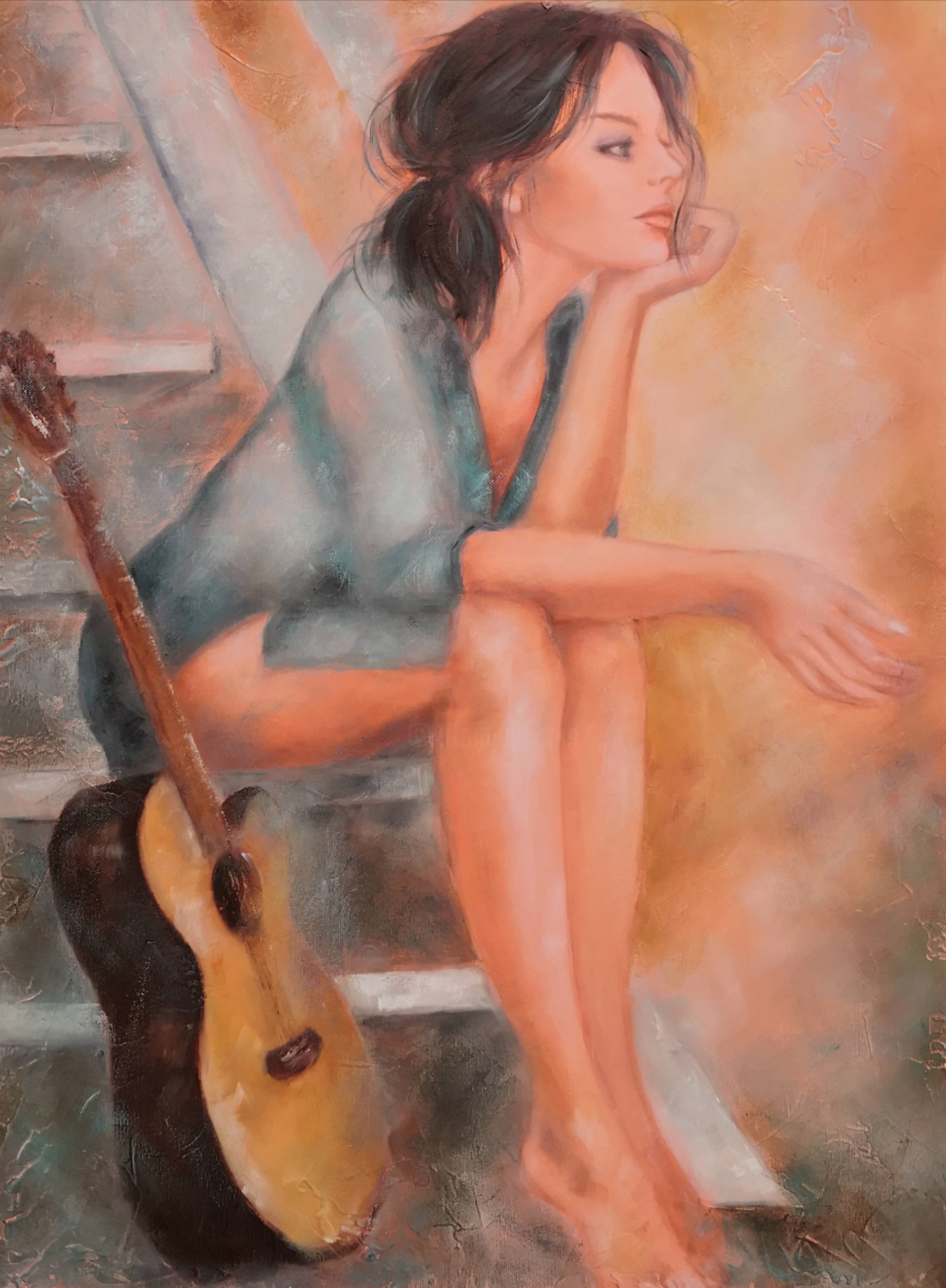 Martine Gregoire - La guitariste