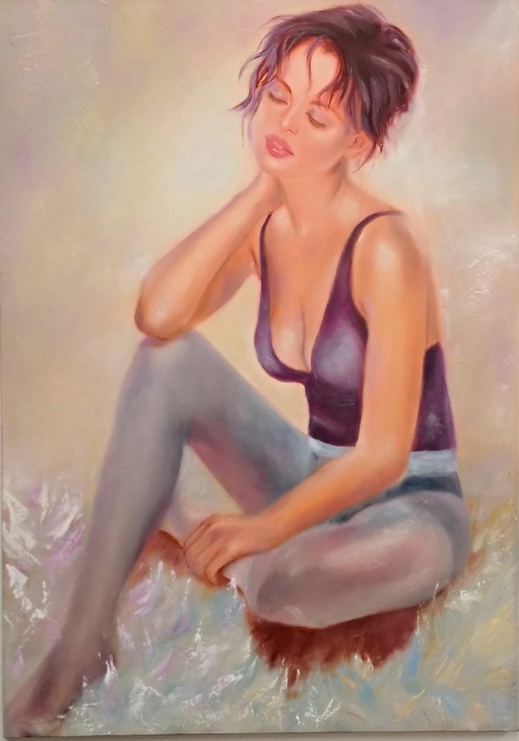 Martine Gregoire - La danseuse en mauve