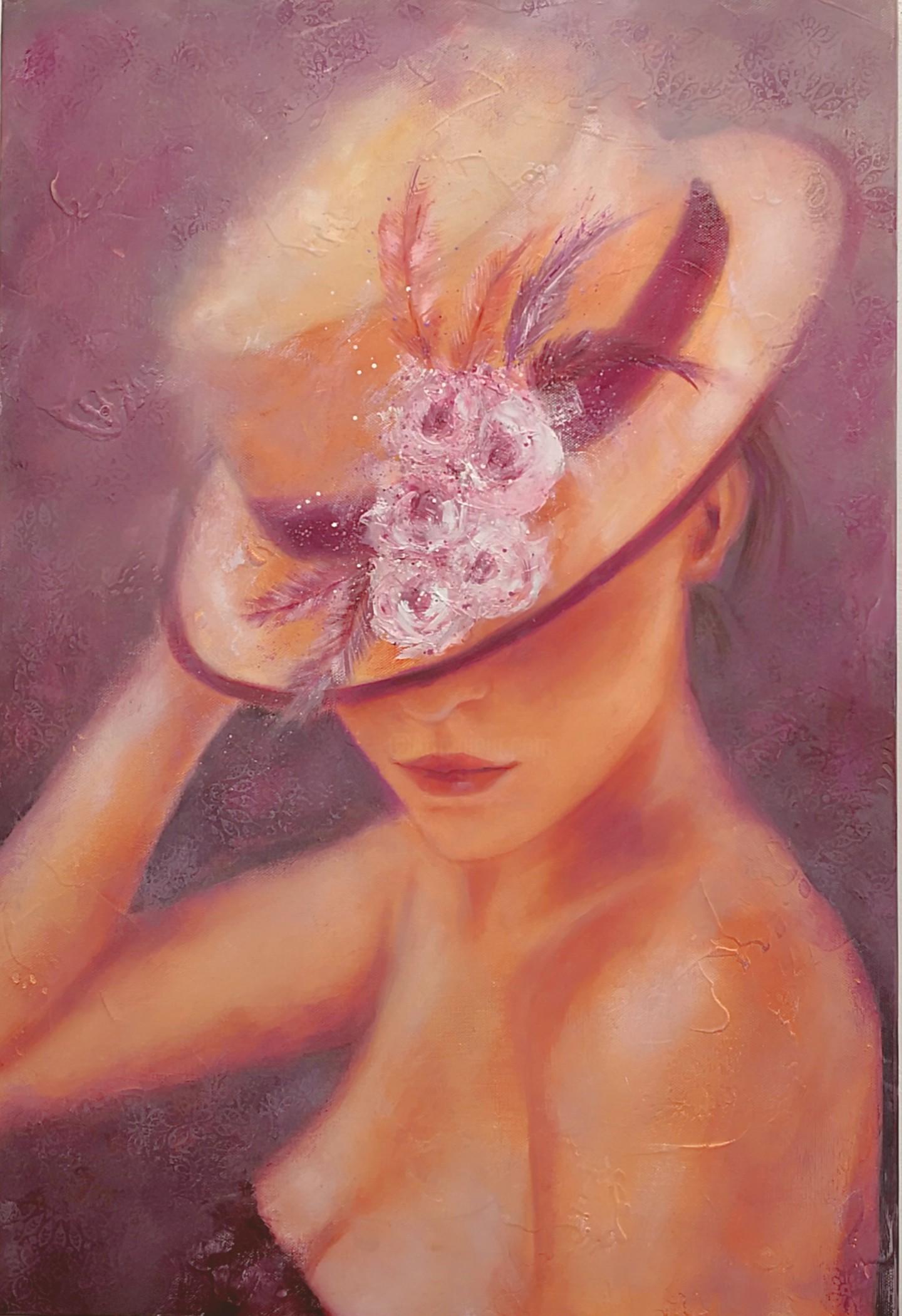 Martine Gregoire - Fleurs et chapeau