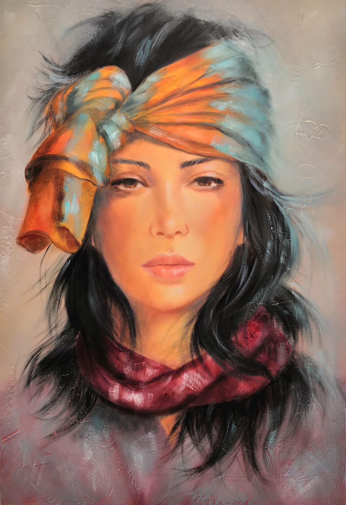 Martine Gregoire - Turban et foulard
