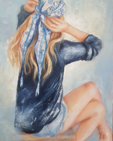 Le foulard bleu