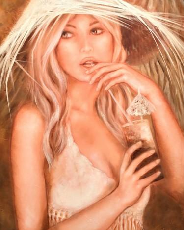 Belle au chapeau blanc