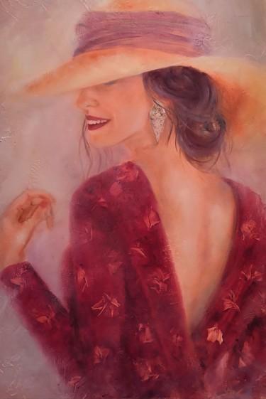 Élégance en robe rouge