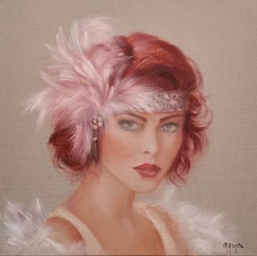 Peinture Portrait, huile, figuratif, œuvre d'art par Martine Gregoire